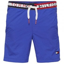 Boys Bold Pocket Swim Shorts, Surf The Web