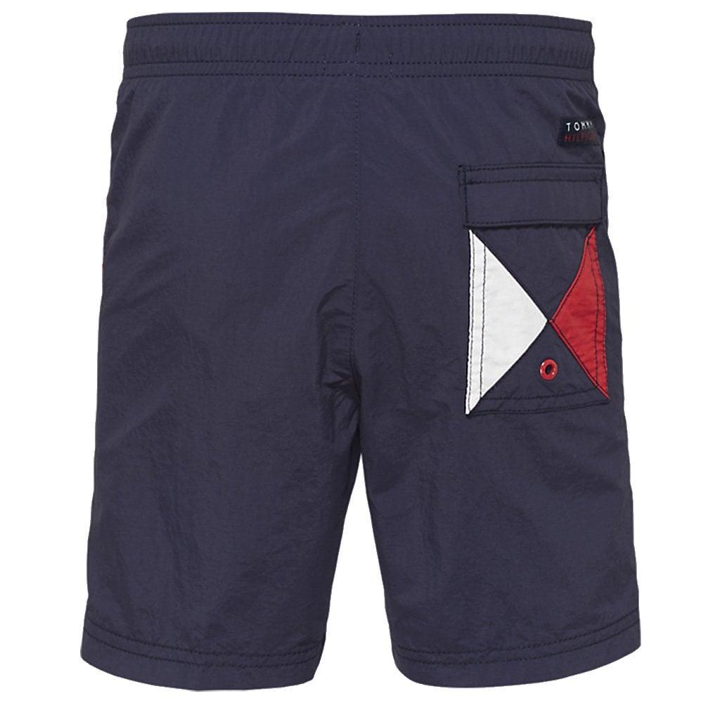 cc0efc4c2 Tommy Hilfiger Boys Core Flag Drawstring Swim Shorts, Navy Blazer