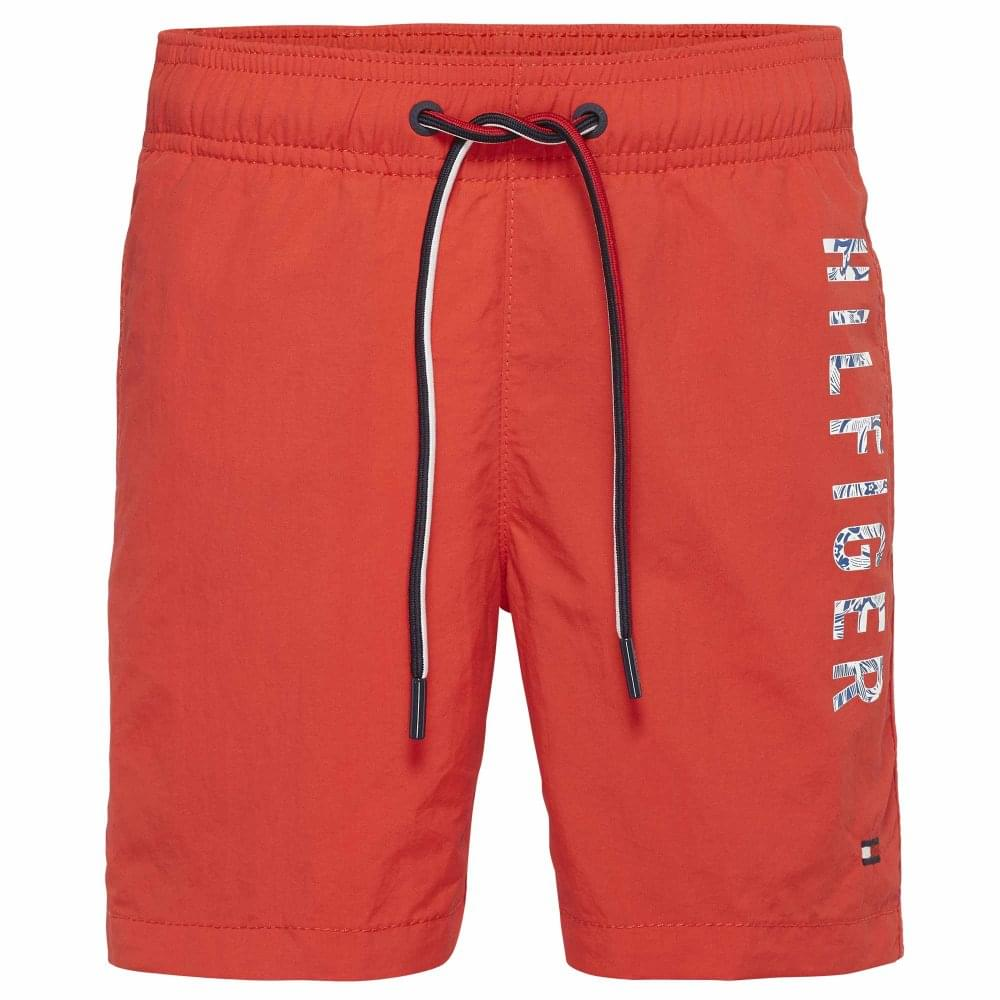 8de8efba64 Tommy Hilfiger Boys Medium Drawstring Swim Shorts, Flame Scarlet