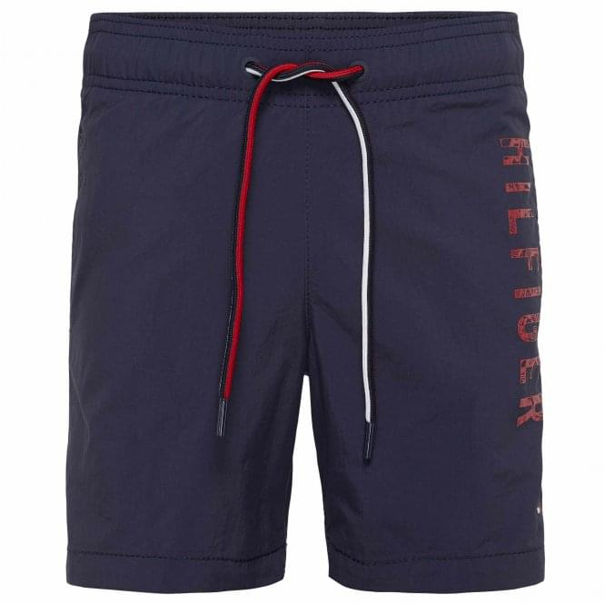 Tommy Hilfiger Boys Medium Drawstring Swim Shorts, Navy Blazer