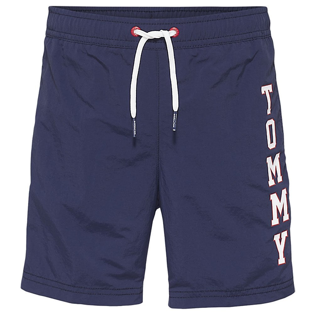3f345181e Tommy Hilfiger Boys Logo Drawstring Swim Shorts