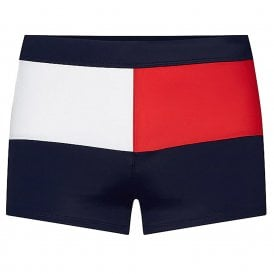 Colour-Blocked Swim Trunks, Pitch Blue