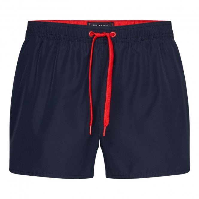 Tommy Hilfiger Contrast Drawstring Runner Swim Shorts, Pitch Blue