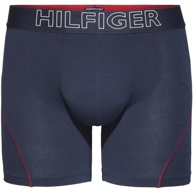 Tommy Hilfiger Cotton Athletic Boxer Brief, Navy