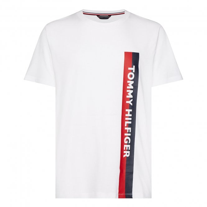 Tommy Hilfiger Cotton Jersey Logo Crew Neck T-Shirt, Classic White