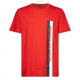 Cotton Jersey Logo Crew Neck T-Shirt, Red Glare