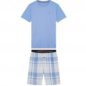 Cotton Pyjama Set, Cornflower Blue/Cashmere Blue