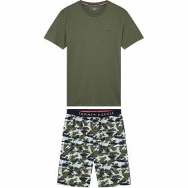 Cotton Pyjama Set, Grapeleaf/Khaki