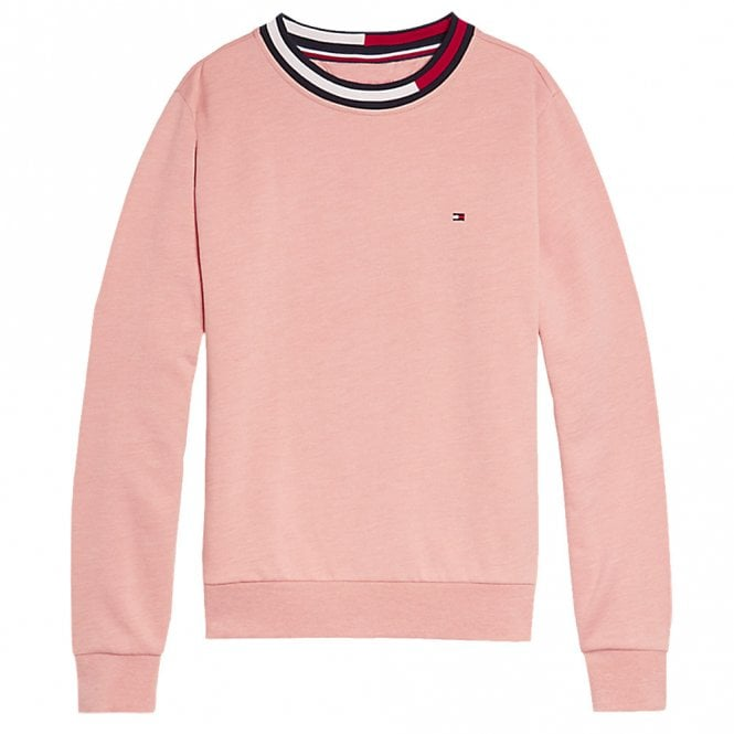 Tommy Hilfiger Girls Long Sleeve Track Top, Rose Tan