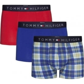 Icon 3-Pack Trunk, Chambray Blue Check / Tango Red / Sodalite Blue