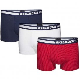 3-Pack Trunk, Navy Blazer / White / Tango Red Print