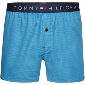 Icon Woven Boxer Houndstooth, Blue Danube