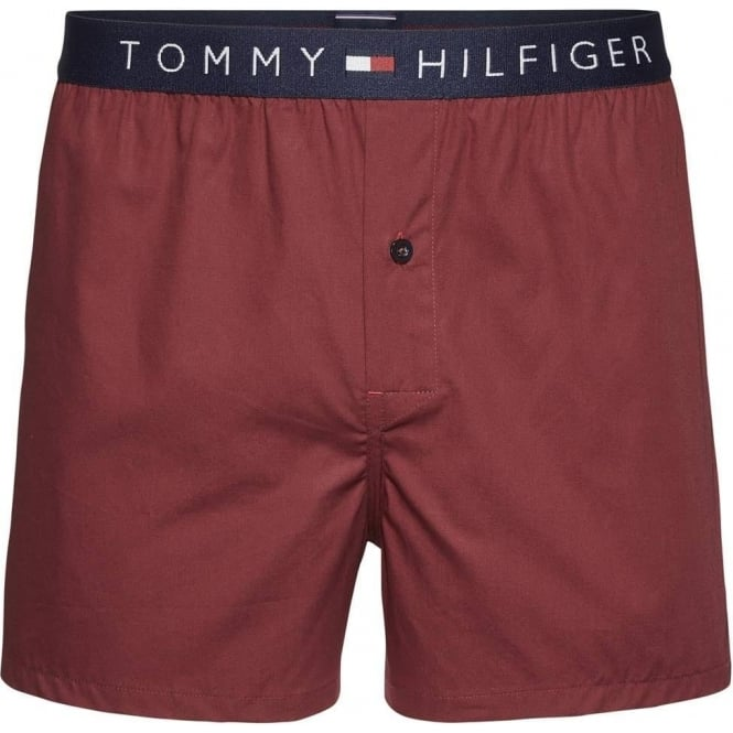 3909bb441312 Tommy Hilfiger Icon Woven Boxer Short Cabernet