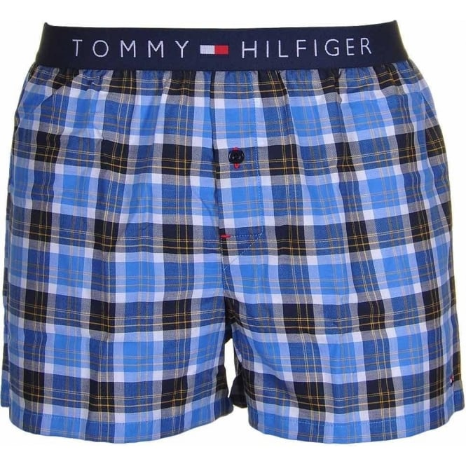 Tommy Hilfiger Icon Woven Boxer Short, French Blue Check