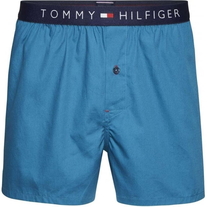 Tommy Hilfiger Icon Woven Boxer Short, Lyons Blue