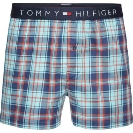 Icon Woven Boxer Short, Poppy Red Check