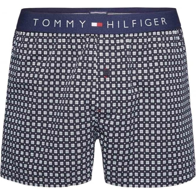 Tommy Hilfiger Icon Woven Boxer Short, Snowflake Print