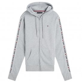 Logo Tape Hoodie HWK, Light Heather Grey