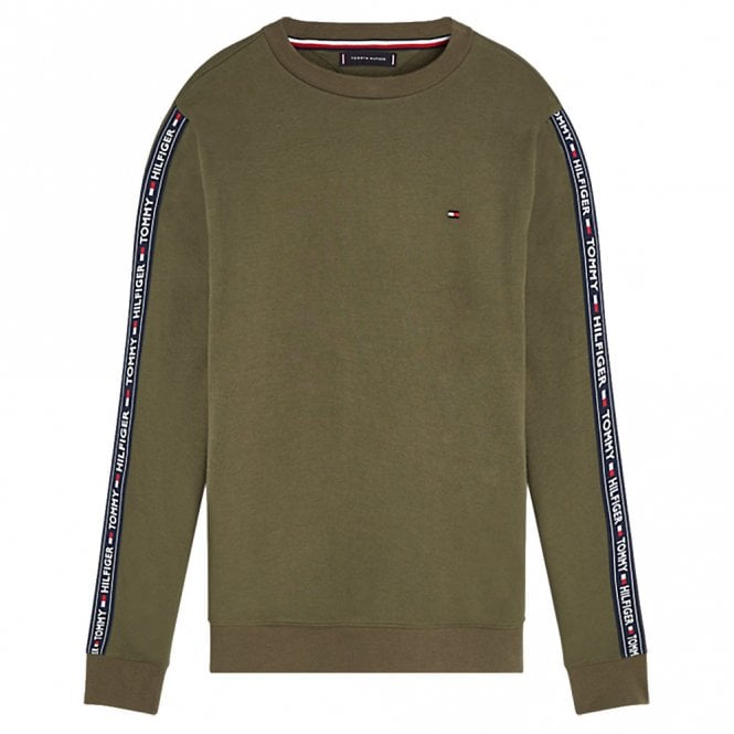Tommy Hilfiger Long Sleeve HWK Sweatshirt, Olive Night Green