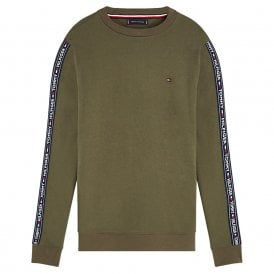 Long Sleeve HWK Sweatshirt, Olive Night Green