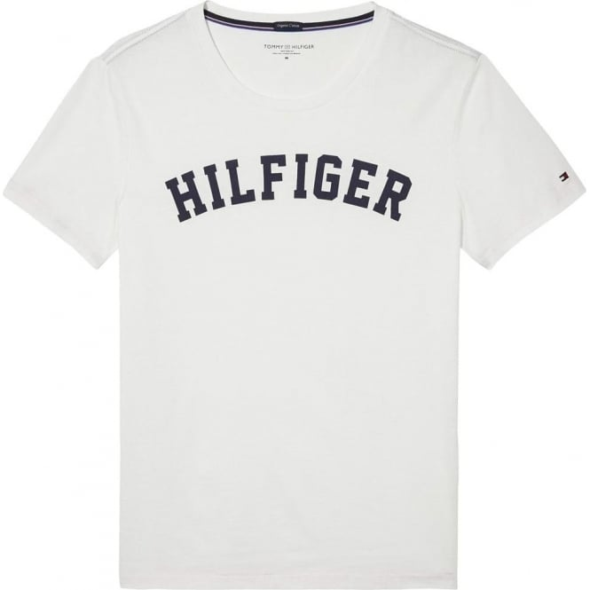 Tommy Hilfiger Organic Cotton Short Sleeved Crew Neck T-Shirt, Brilliant White