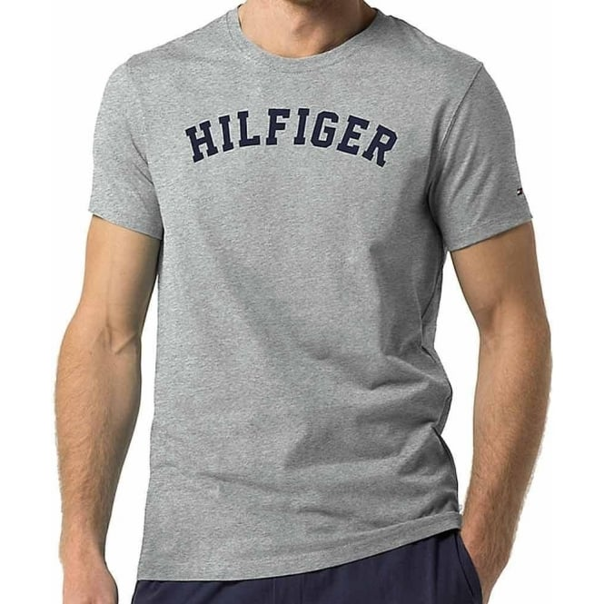 Tommy Hilfiger Organic Cotton Short Sleeved Crew Neck T-Shirt, Grey