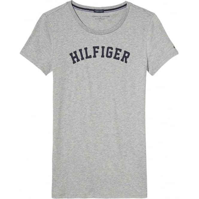 Tommy Hilfiger Organic Cotton Short Sleeved Crew Neck T-Shirt, Heather Grey