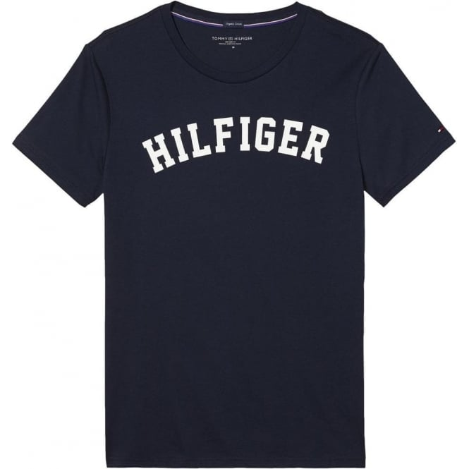 Tommy Hilfiger Organic Cotton Short Sleeved Crew Neck T-Shirt, Navy Blazer