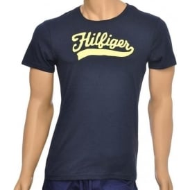 Organic Cotton Short Sleeved Crew Neck T-Shirt, Navy