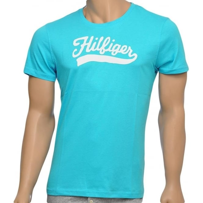 Tommy Hilfiger Organic Cotton Short Sleeved Crew Neck T-Shirt, River Blue