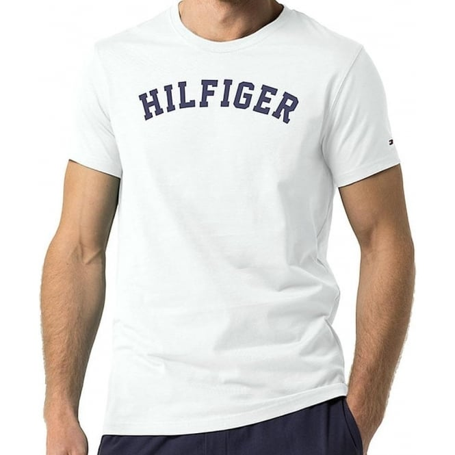 Tommy Hilfiger Organic Cotton Short Sleeved Crew Neck T-Shirt, White