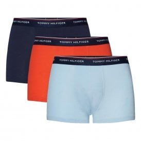Premium Essentials Stretch Cotton 3-Pack Trunk, Peacoat / Fiesta / Cashmere Blue
