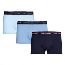 Premium Essentials Stretch Cotton 3-Pack Trunk, Cornflower Blue / Peacoat / Cashmere Blue