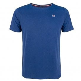 Rubber Flag Logo Crew Neck T-Shirt, Blue Depths