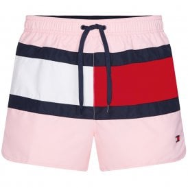 Runner Core Flag Swim Shorts, Misty Pink
