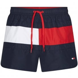 Runner Core Flag Swim Shorts, Pitch Blue