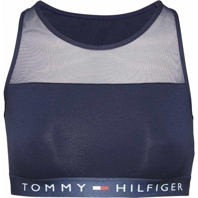Tommy Hilfiger Sheer Flex Cotton Bralette, Navy