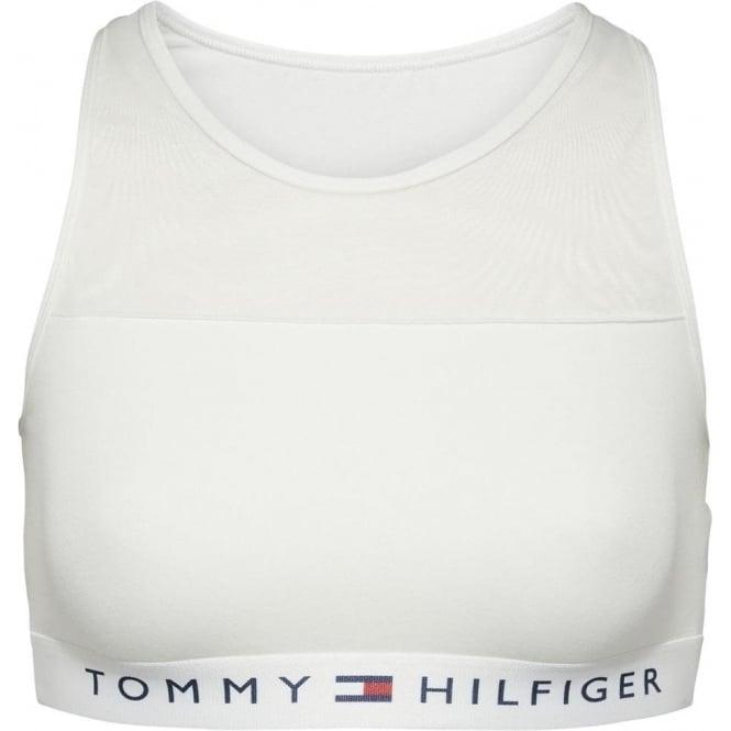 Tommy Hilfiger Sheer Flex Cotton Bralette, White