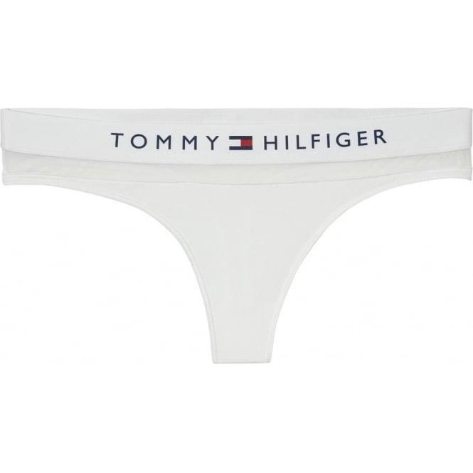 Tommy Hilfiger Sheer Flex Cotton Thong, White