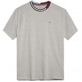 Signature Tape Short Sleeved Crew Neck T-Shirt, Grey