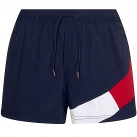Slim Fit Medium Drawstring Swim Shorts, Desert Sky