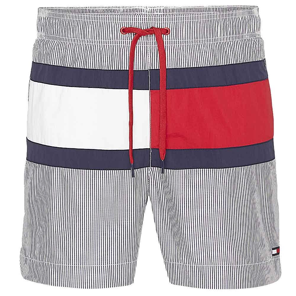 2e1065f672 Core Flag ITHACA Medium Drawstring Swim Shorts, ITHACA Navy Blazer / Snow  White