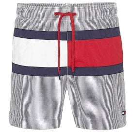 Core Flag ITHACA Medium Drawstring Swim Shorts, ITHACA Navy Blazer / Snow White