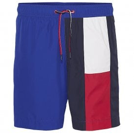 Flag Longline Swim Shorts, Surf the Web