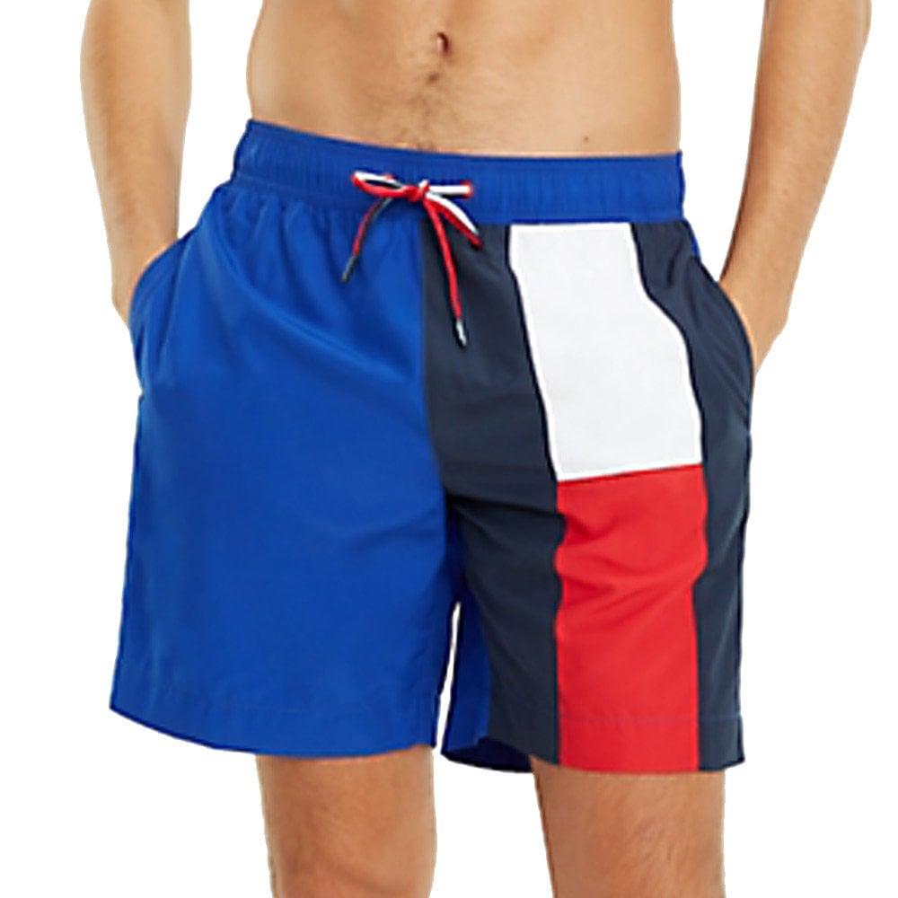 Tommy Hilfiger Flag Longline Swim Shorts Navy Blazer