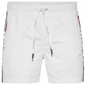 Logo Leg Swim Shorts, Bright White