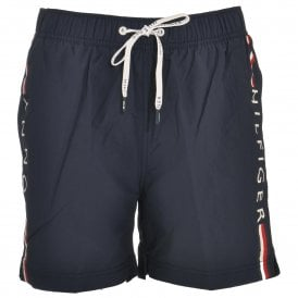Logo Leg Swim Shorts, Navy Blazer
