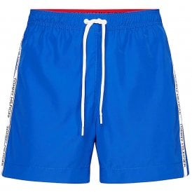 Logo Tape Swim Shorts, Cobalt