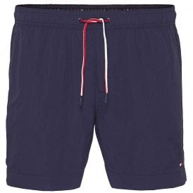 Medium Drawstring Swim Shorts, Navy Blazer
