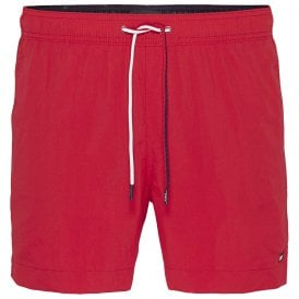 Medium Drawstring Swim Shorts, Tango Red